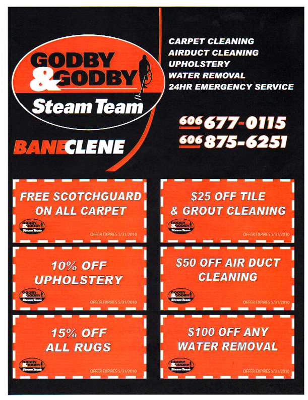 Godby and Godby Steam Team, Somerset, KY - Coupons